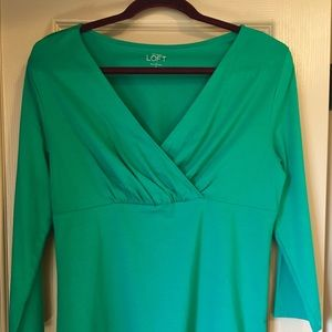Ann Taylor Loft - jade green 3/4 sleeve top